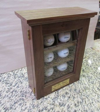 Custom Made Golf Ball Display Case