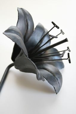 Custom Made Forged Iron Tiger Lily Handmade Metal Steel Flower 6th Anniversary Wedding Gift