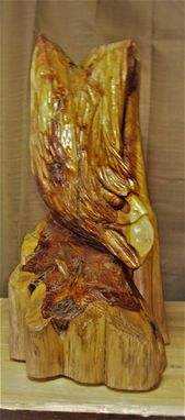 Custom Made Native Red Cedar Diving Eagle Bust
