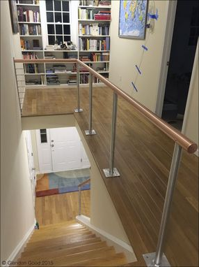 Custom Made Copper Handrail With Stainless Steel Cables