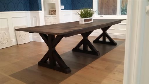 Custom Made Stained Oak Extendable Table