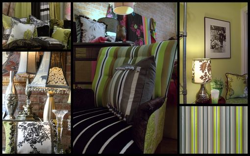 Custom Made Upholstered Vintage Chair, Settee,Cushions  In Designers Guild Fabric