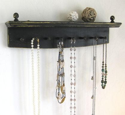 Custom Made Necklace Rack - Rich, Beautifully Aged Jet Black Necklace Organizer, Necklace Hanger, Display Rack