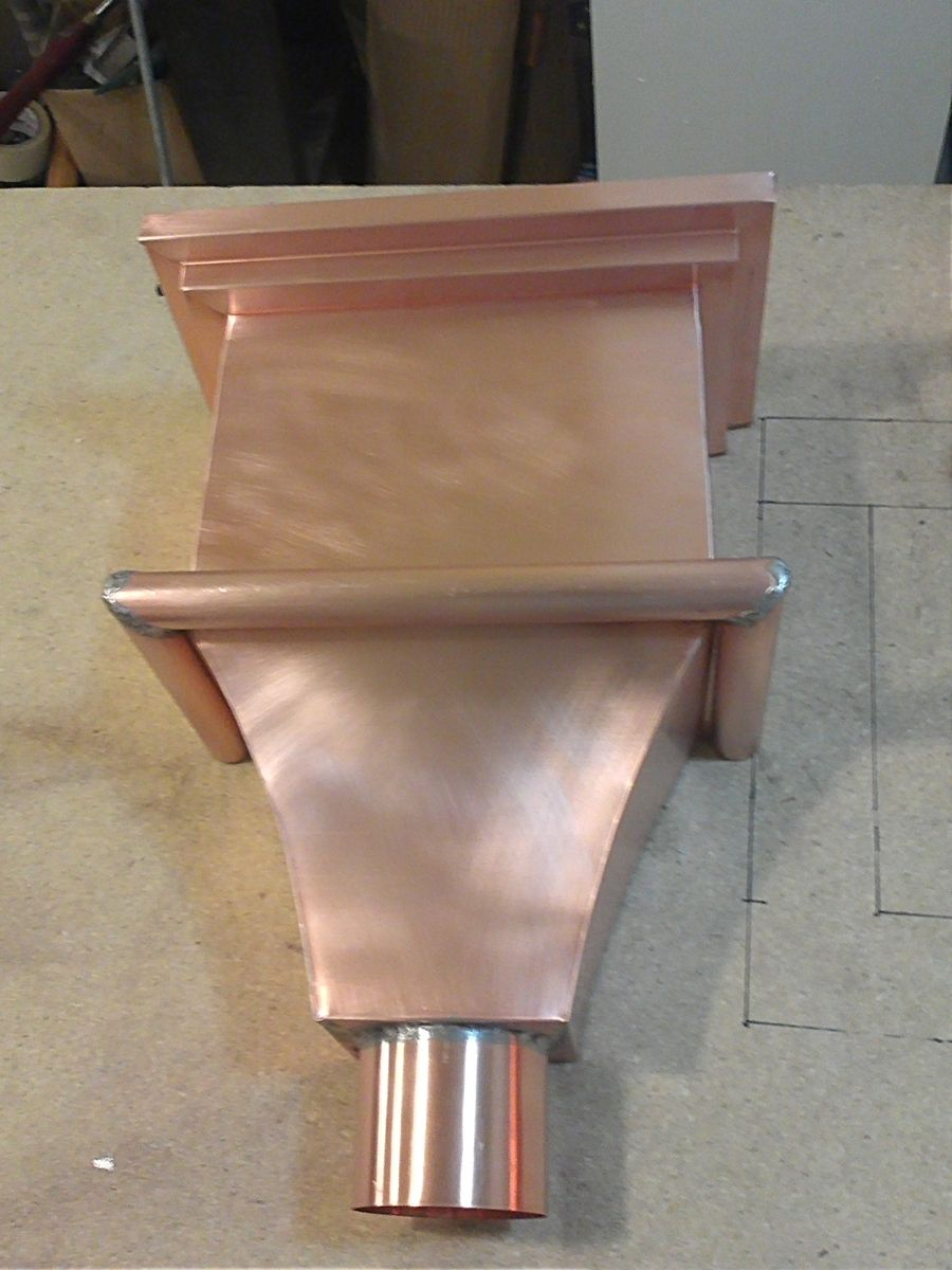 Leader Heads And Conductor Heads : Handmade copper leader head conductor by