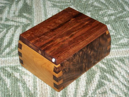 "Custom Made ""Carribbean Rosewood"" American Walnut & Knotty Alder Box"