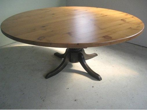 Custom Made Round Table Golden Finish