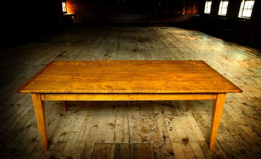 Hand Crafted Tiger Maple 7 X40 Quot Dining Table By Carolina