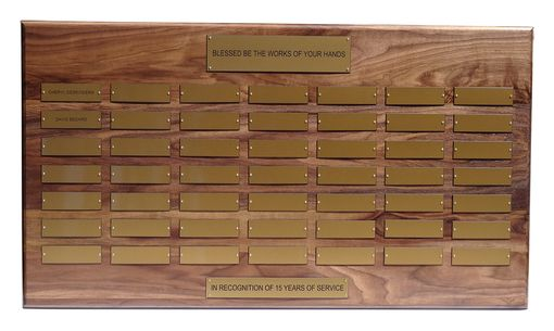 Custom Made Solid Walnut Custom Perpetual Plaque