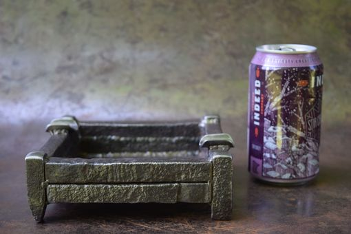 Custom Made Auden: Railroad Spike Ashtray By The Big Purple Barn