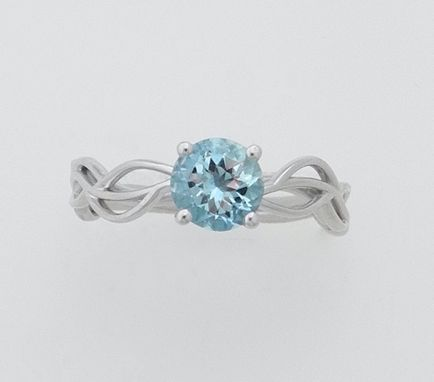 Custom Made Custom Aquamarine Engagement Ring