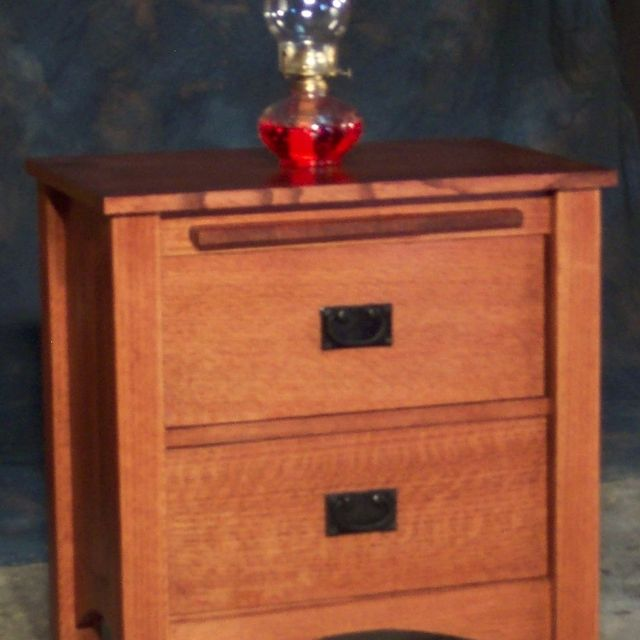 Custom Made 2 Drawer Quartersawn Oak Mission Style Night Stand By Cc Fine Furniture Custommade