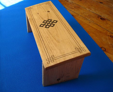 Custom Made Endless Knot Meditation Bench