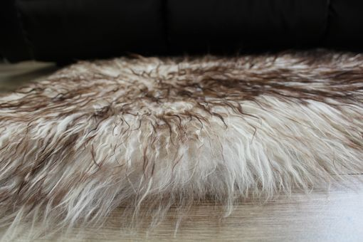 Custom Made Genuine Icelandic Sheepskin Rug Throw – Shade Of Brown - Curly Pile