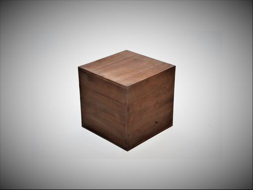 Custom Made Barnwood Cube