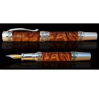 Custom Made Poet's Muse - Sapele Fountain Pen