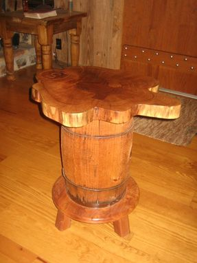 Custom Made Mesquite Barrel Table