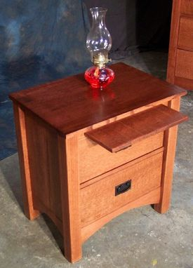 Custom Made 2 Drawer Quartersawn Oak Mission Style Night Stand