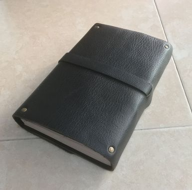 Custom Made A Simple Sturdy Leather Journal, Or Diary -- With Lined Pages, And Belt And Buckle Closure!