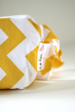 Custom Made Mini Gusseted Messy Bags (Snack Bags) - Yellow Chevrons