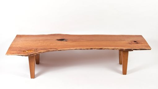Custom Made Live Edge Vermont Cherry Coffee Table
