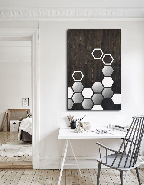 Wood Wall Art Metal