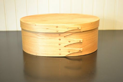 Custom Made Maple And Sycamore Shaker Style Oval Box #4 Size