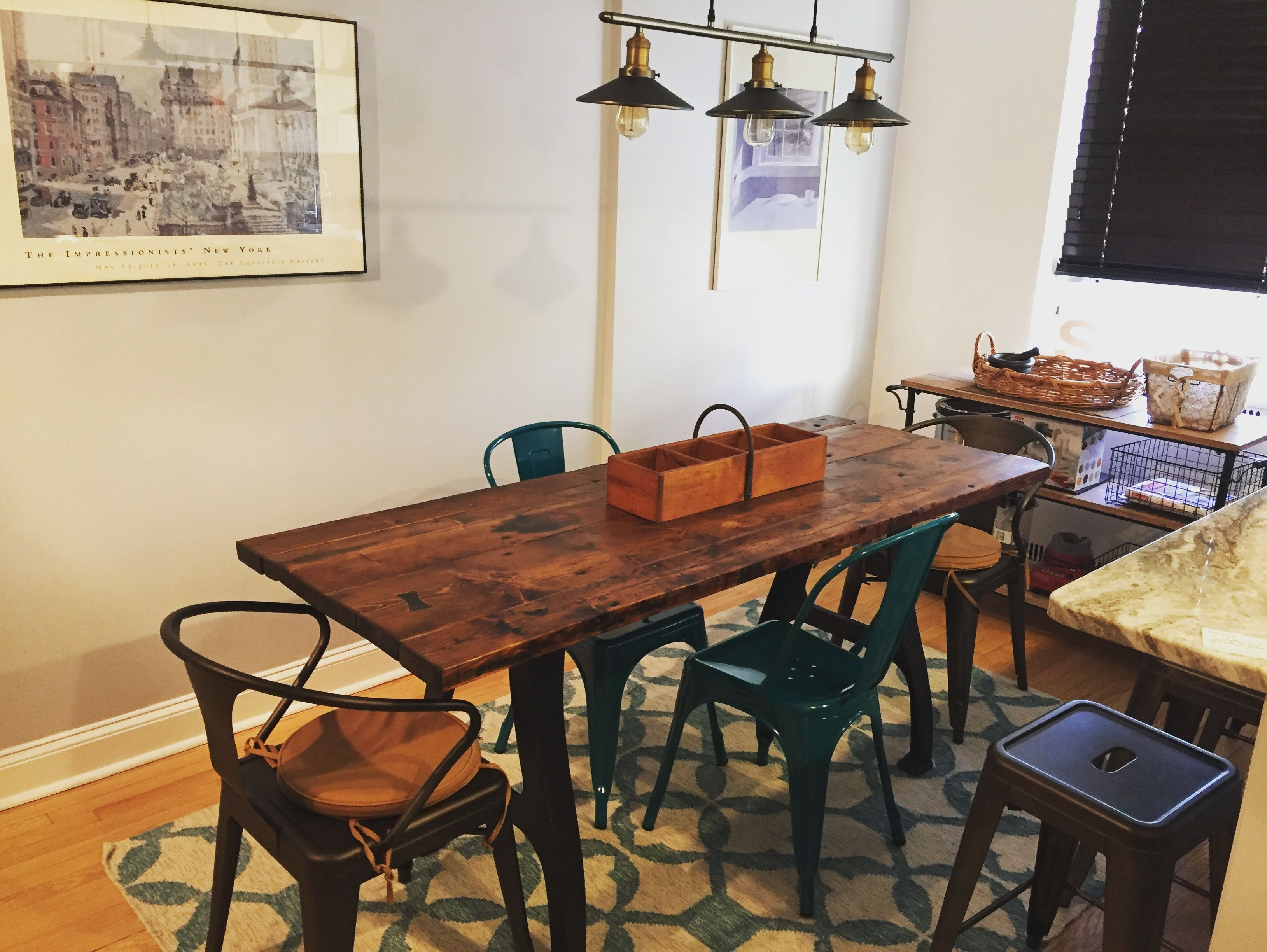 Hand Made Reclaimed Drop Leaf Dining Table By M