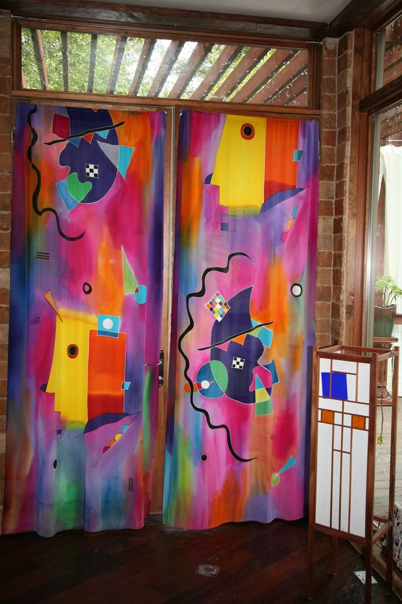 Custom Hand Painted Silk Curtains By Natasha S Silks