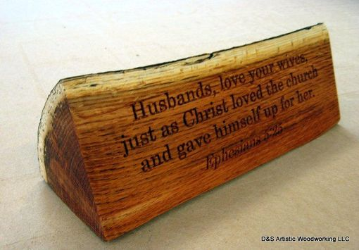 Custom Made Wood Carving With Scripture Verse To Be Displayed