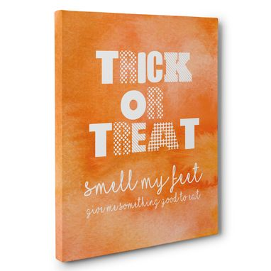 Custom Made Trick Or Treat Halloween Canvas Wall Art