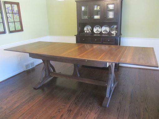 Custom Made Dutch Pullout Extension Table On Trestle Base