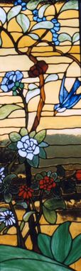 Custom Made Chinese Garden Stained Glass Panel
