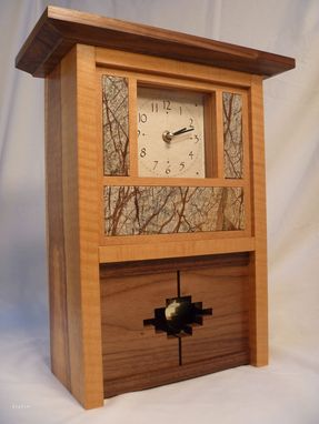 Hand Made Mantle Clocks Craftsman And Contemporary