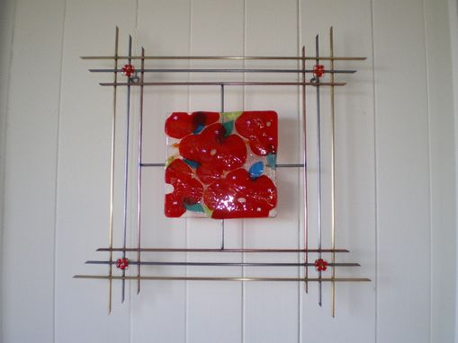 "Custom Made Wall Sculpture - ""May Poppies"""