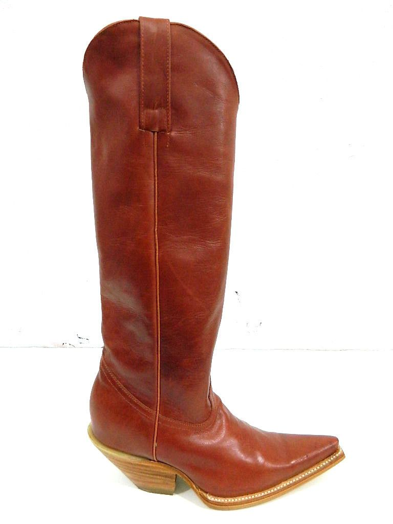 b0bb34757d1 Custom Made Sadle Tan S Toe Cwboy Boots 3 Inch Heels And Plain ...