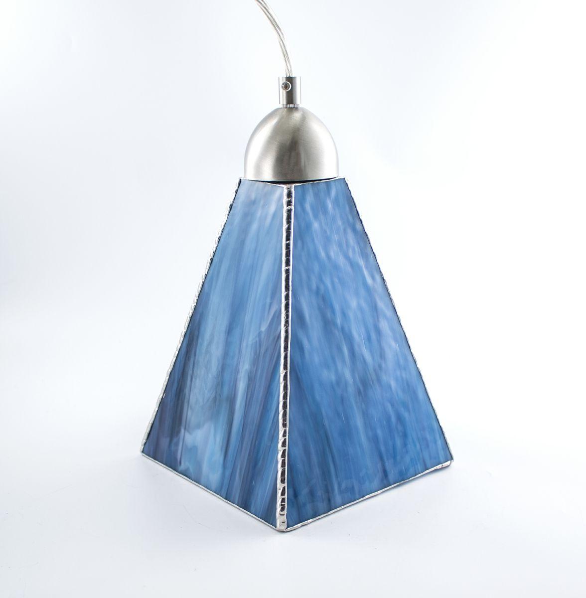 Hand Made Custom Hanging Pendant Lights Pearl Opal Art Glass By