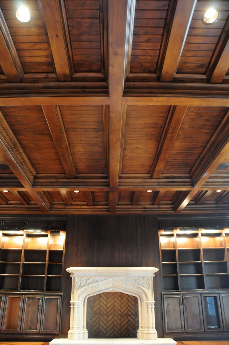 Hand made coffered ceilings by yoder custom design for Coffered ceiling styles