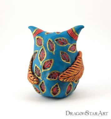 Custom Made Colorful Owl Sculpture