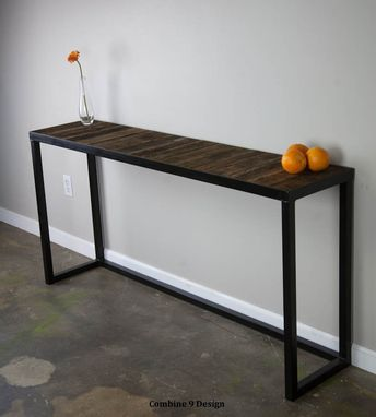 Buy A Hand Made Sofa Table Steel Reclaimed Wood Modern