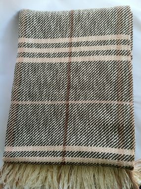 Custom Made Brown Striped Cotton Blanket