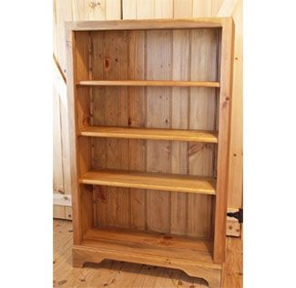 Custom Made Shaker 5' White Pine Bookcase