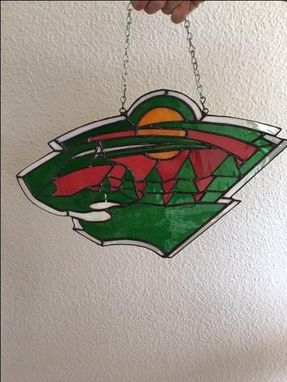 Custom Made Minnesota Wild Stained Glass Logo