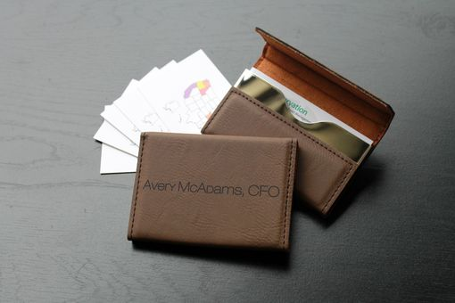 Custom Made Custom Business Card Holder --Bch-Db-Avery Mcadams