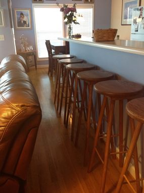 Custom Made Island Jewel Stand Up Bar Stools