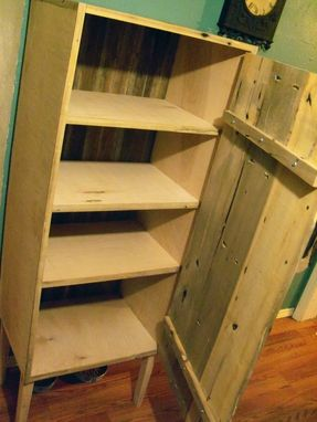 Custom Made Repurposed Handmade Pie Cabinet
