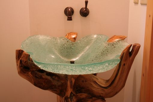 Custom Made Slump Glass Powder Room/Bathroom Sink