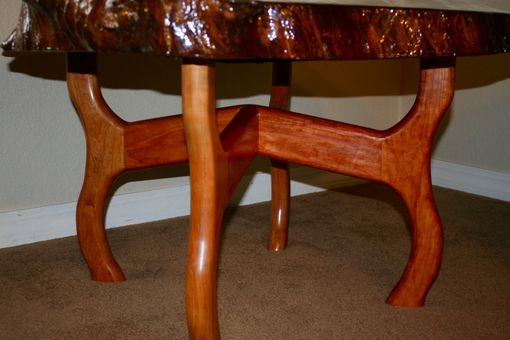 Custom Made Cherry Sculpted Side Table.