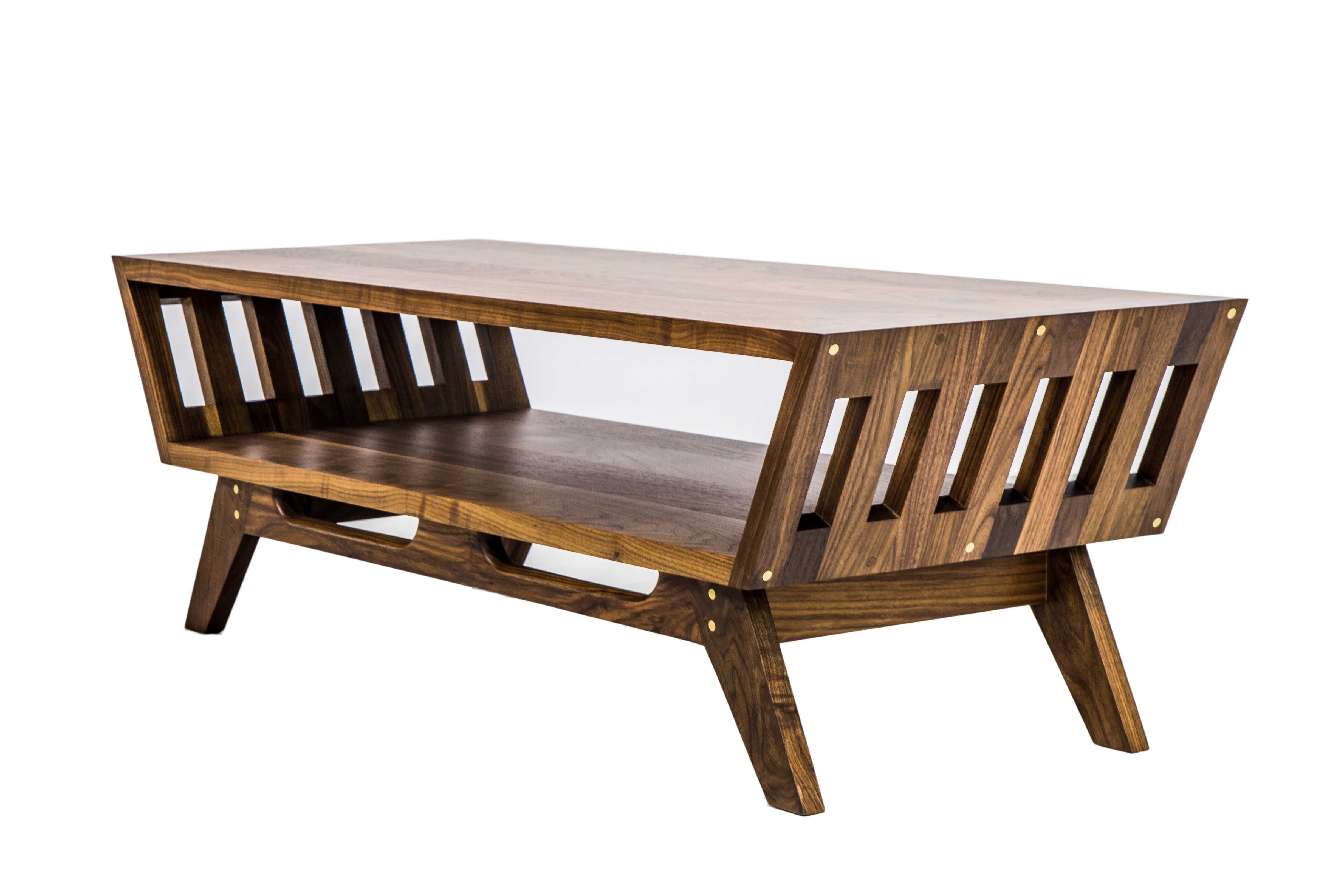 Buy Hand Crafted The April V2 Midcentury Modern Walnut Coffee Table Made To Order From Moderncre8ve Custommade Com