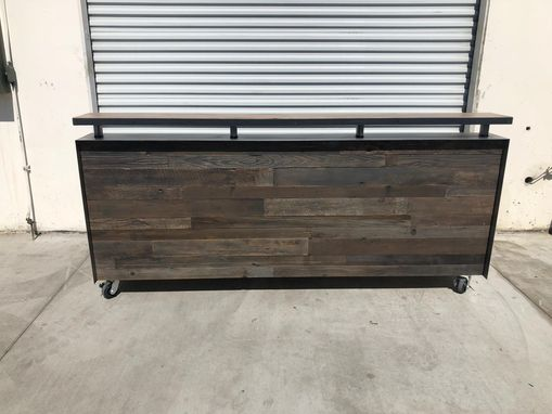 Custom Made Floating Shelf Reception Counter