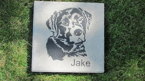 "Custom Made Engraved Pet Memorial 12"" Paver"